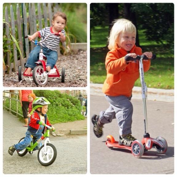 Подсказки родителям: беговел, самокат или велосипед?